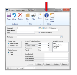 Help feature for specific windows in Dynamics GP