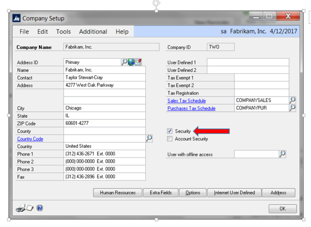 Why is user security not working in Dynamics GP?